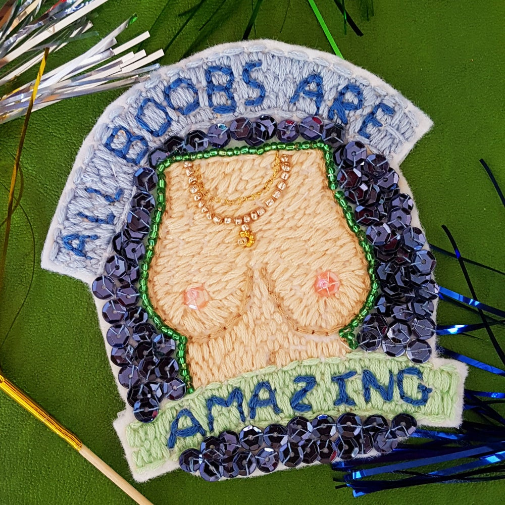 Image of 'ALL BOOBS ARE AMAZING' PATCH