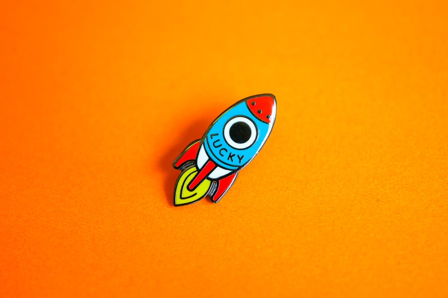 Image of Lucky Rocket Pin