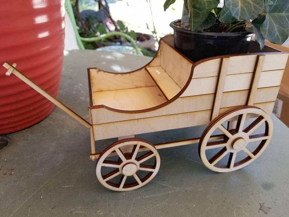 Image of Amish Flower Cart Wood Kit