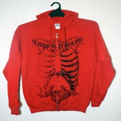 Image of Bleeding Through - Zip Up Hoodie