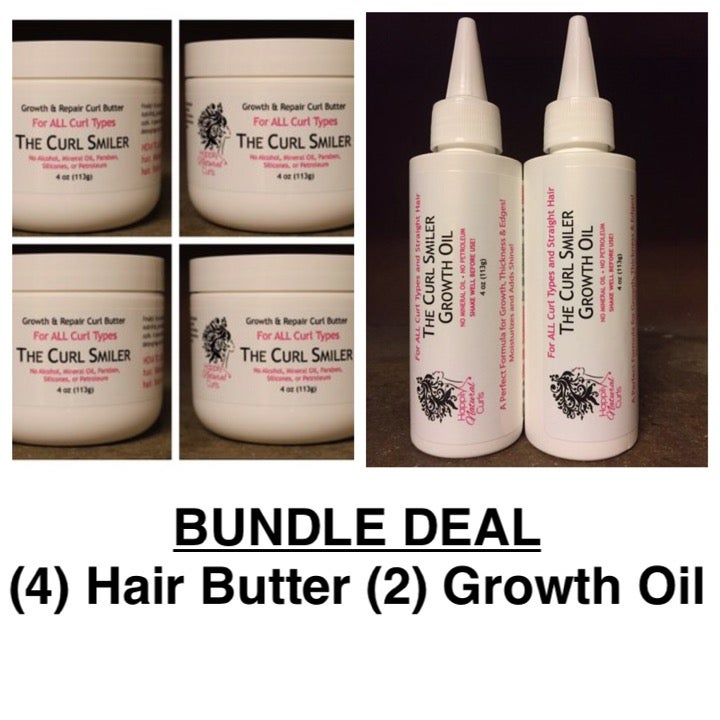 Image of BUNDLE - (4) Hair Butter + (2) Growth Oil