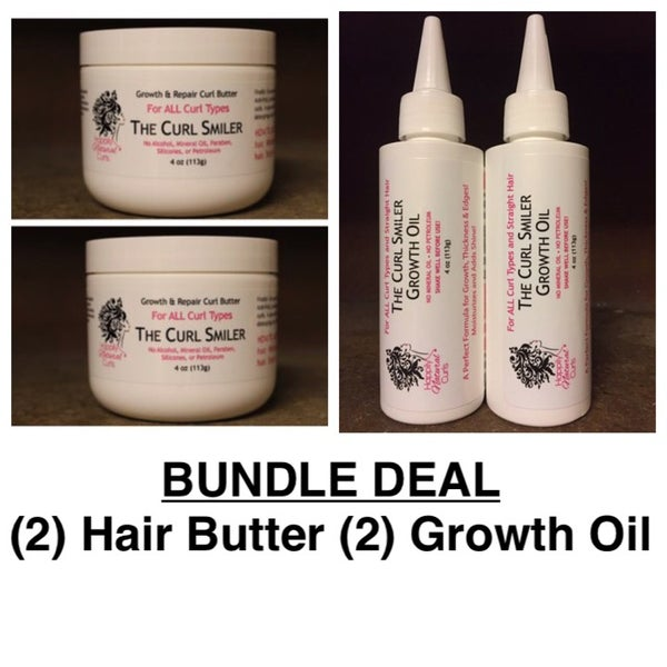 Image of BUNDLE - (2) Hair Butter + (2) Growth Oil