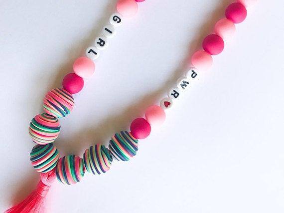 Image of Emma Boho, Tassel Girl Power Necklace