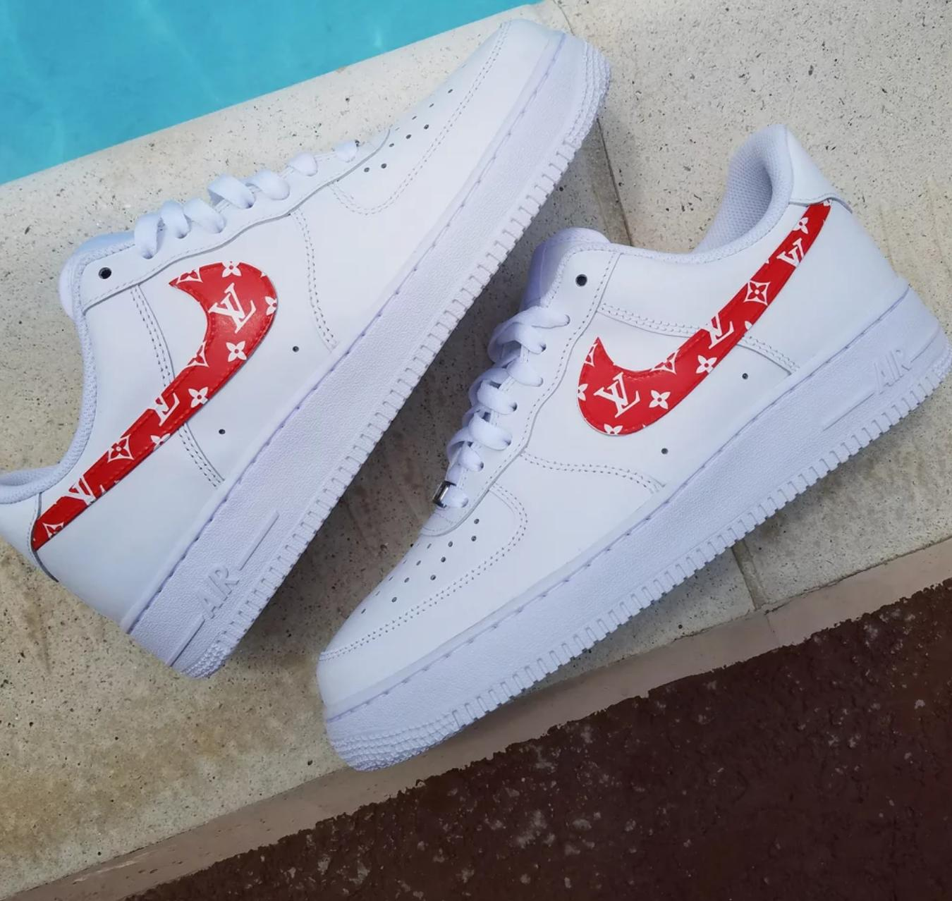 louis vuitton air force ones. image of supreme louis vuitton air force 1 ones