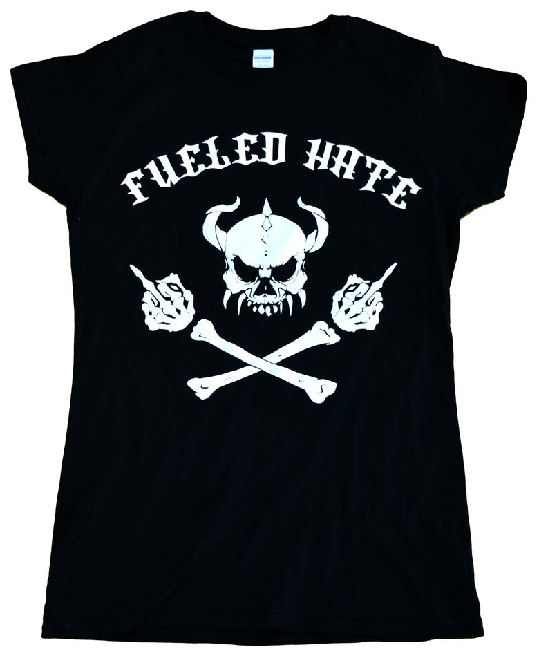 Image of Fueled Hate Logo Skull T-Shirt Female