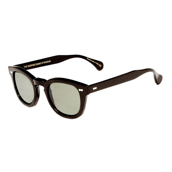 Image of DONEGAL Black Acetate Frame with Bottle Green Lenses
