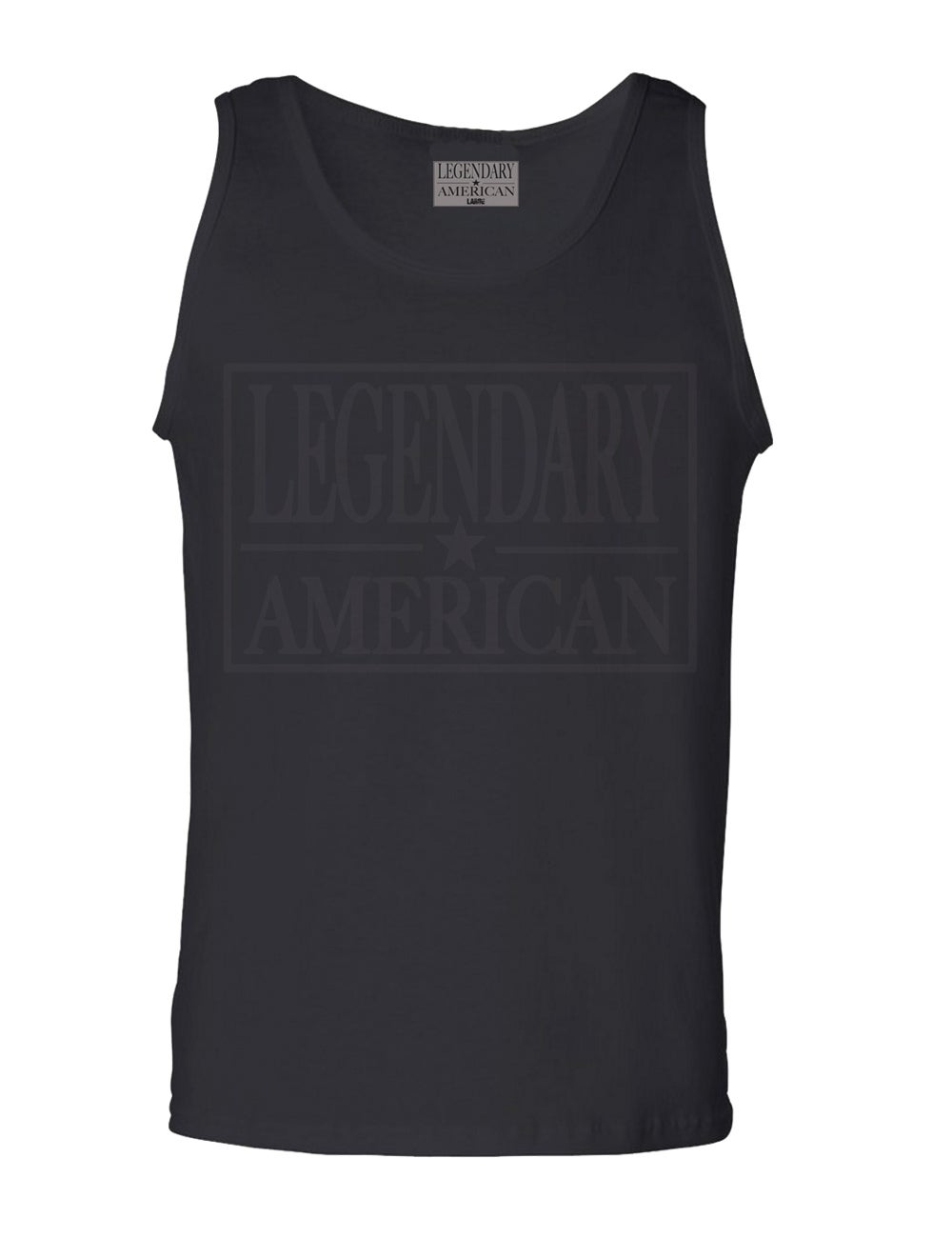 Image of Legendary American Patch Tank all black