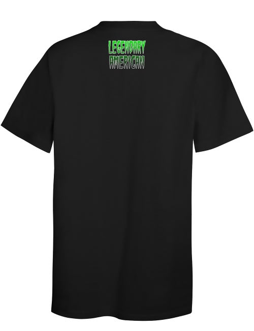 Image of Legendary American Knucklehead tee - green print