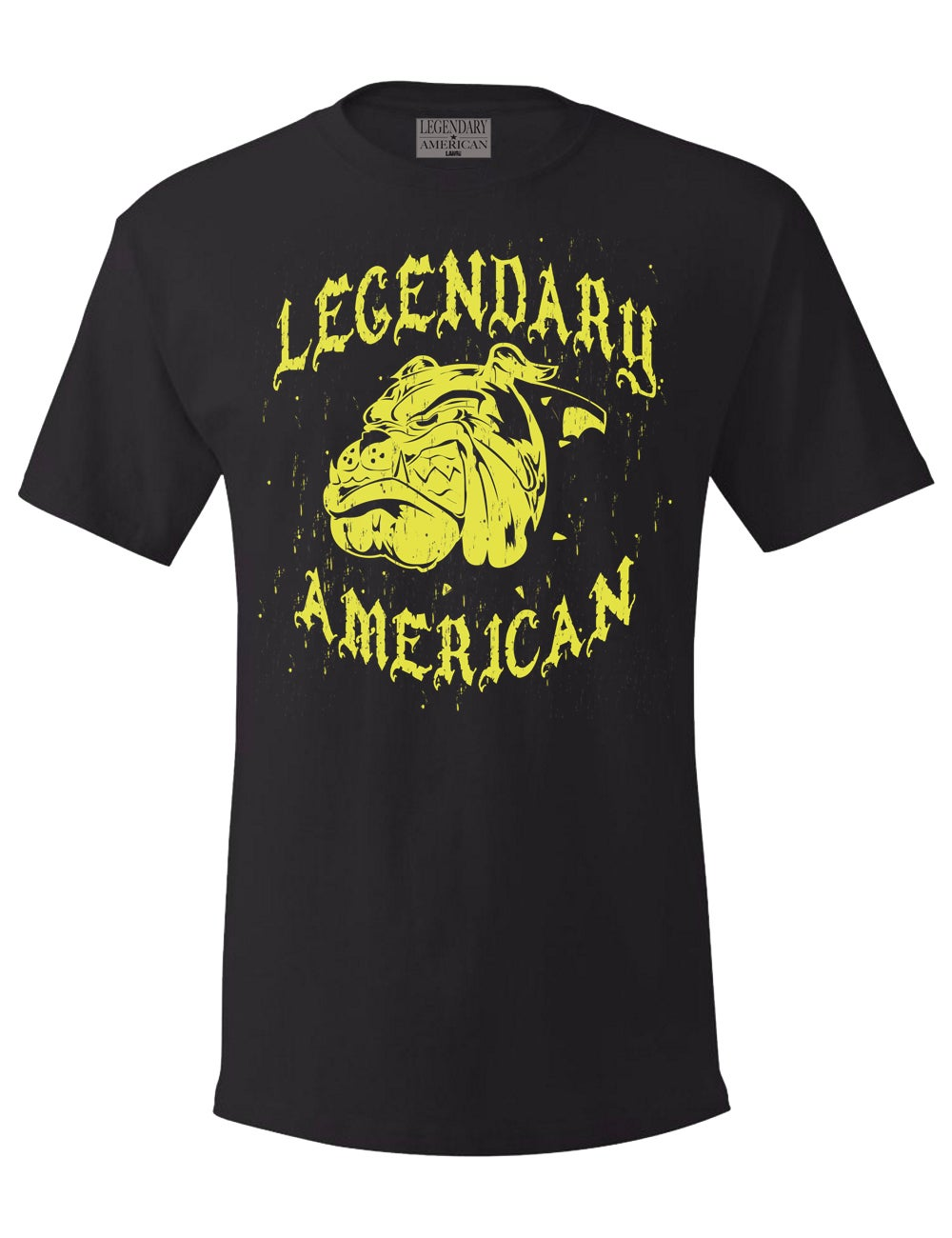 Image of Legendary American Bulldog Tee in gold