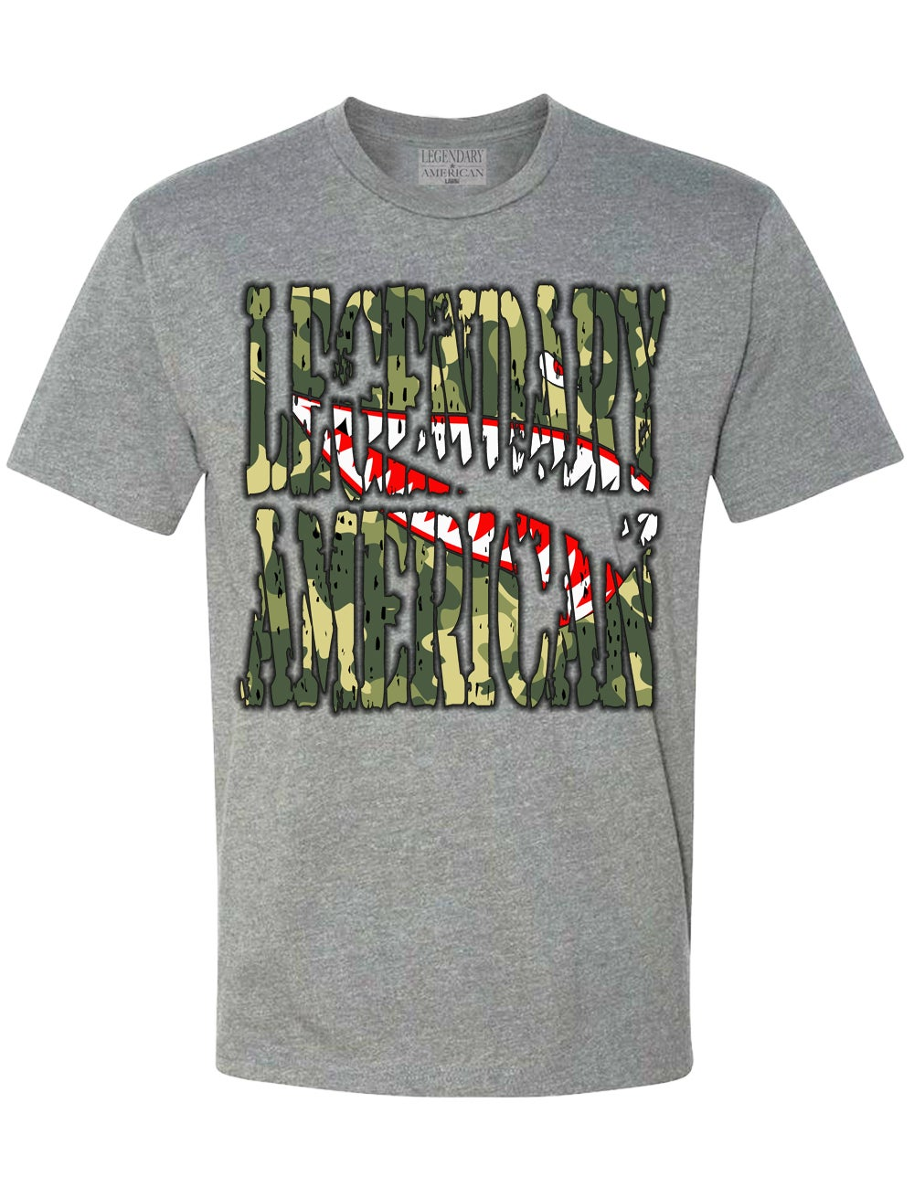 Image of Legendary American Flying Tiger tee in gray