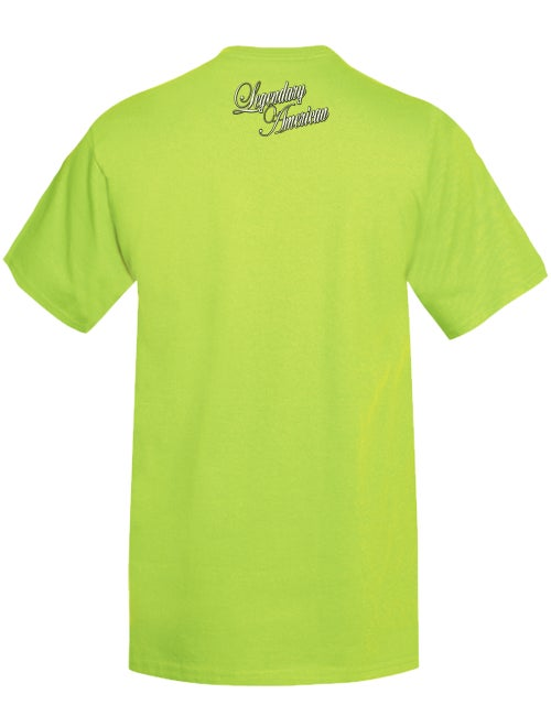 Image of Legendary American Script 3 tee in green