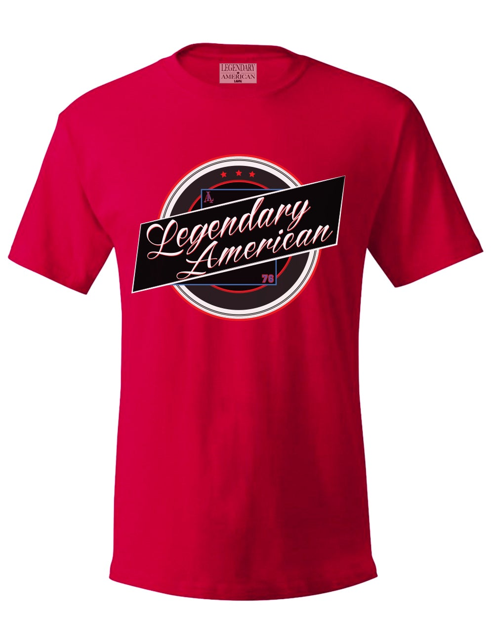 Image of Legendary American Vintage tee in red
