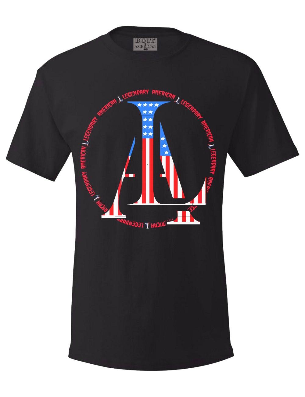 Image of Legendary American LA logo tee