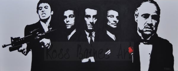 Image of 'ULTIMATE GANGSTERS' (100x40cm canvas print)