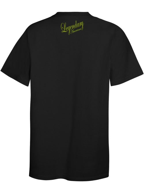 Image of Legendary American Script 1 tee - gold print