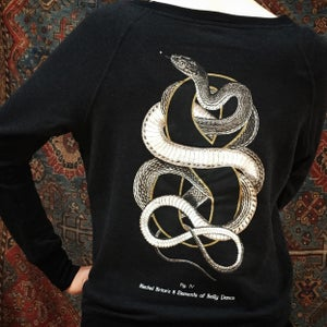 "Image of ""Snake 8"" Boatneck Sweatshirt"