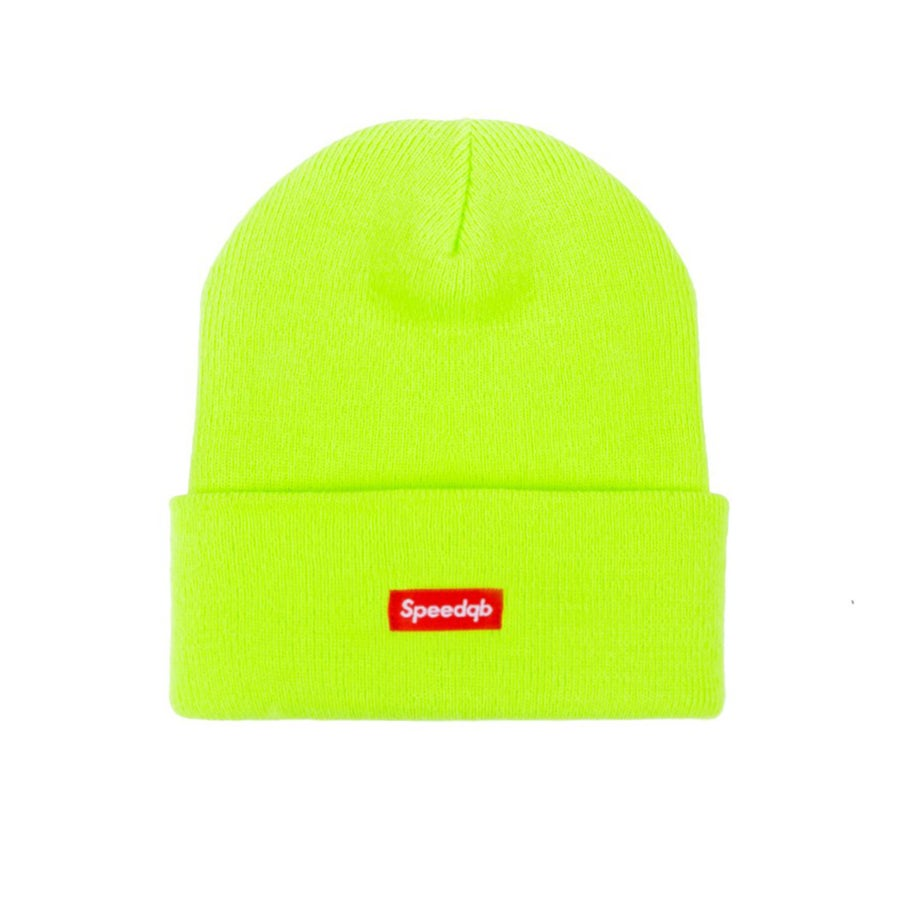 Image of SpeedQB Cuff Beanie - Safety Green