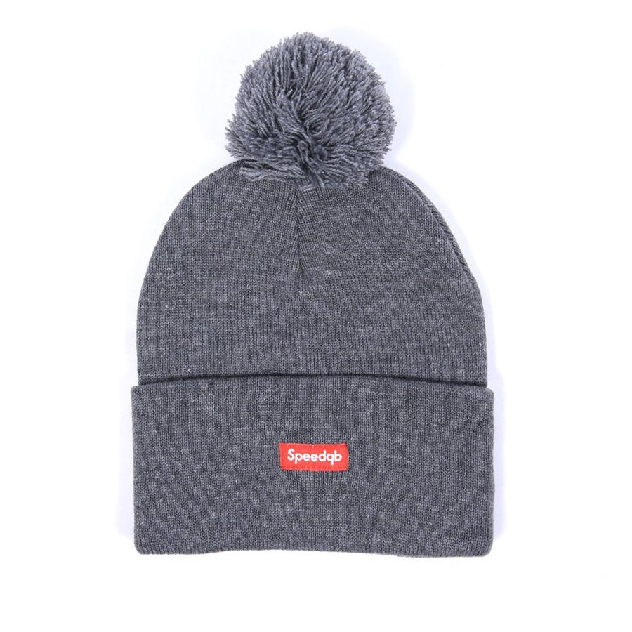 Image of SpeedQB Pom Beanie (Grey)