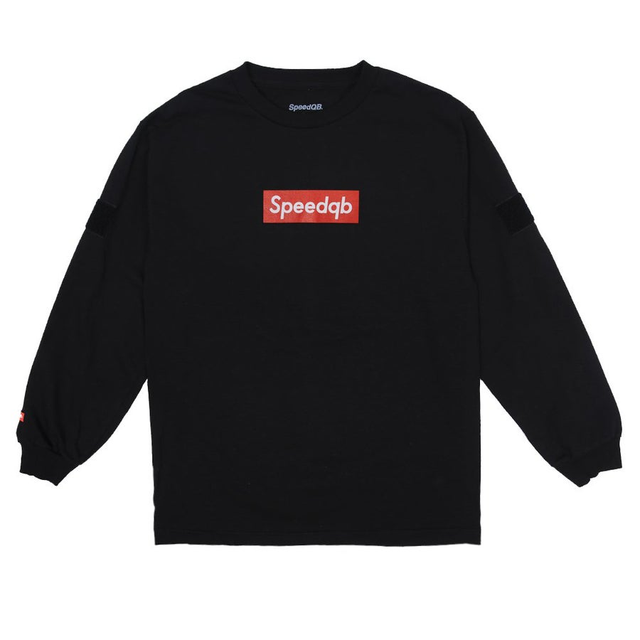 Image of SpeedQB Box Logo Longsleeve T-shirt - Black