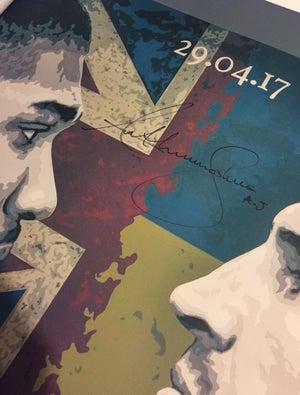 Image of 'WAR' Anthony Joshua SIGNED 3x2ft canvas print