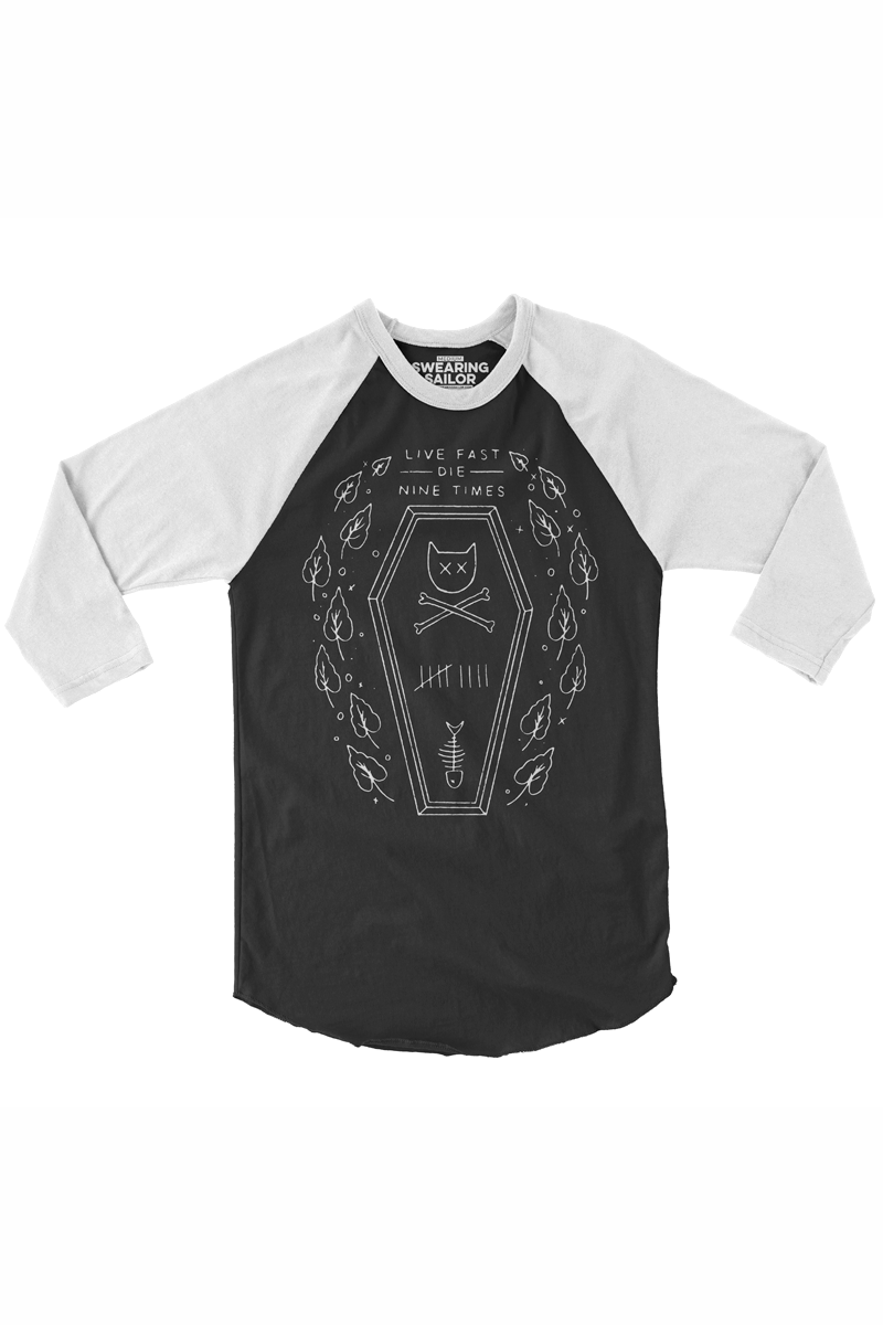 Image of Live Fast Die 9 Times Baseball Tee