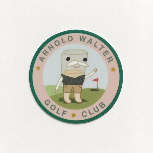 Image of Arnold Walter 2 inch sticker