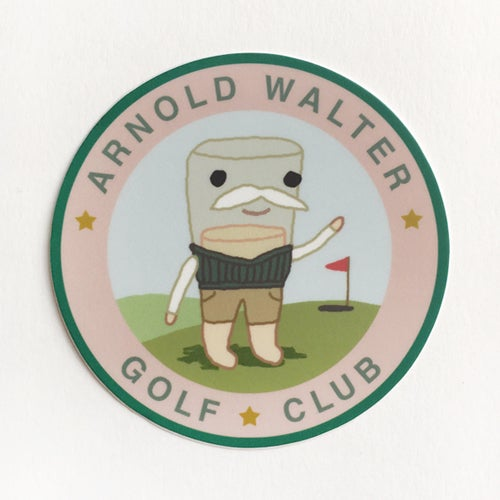 Image of Arnold Walter 3 inch sticker