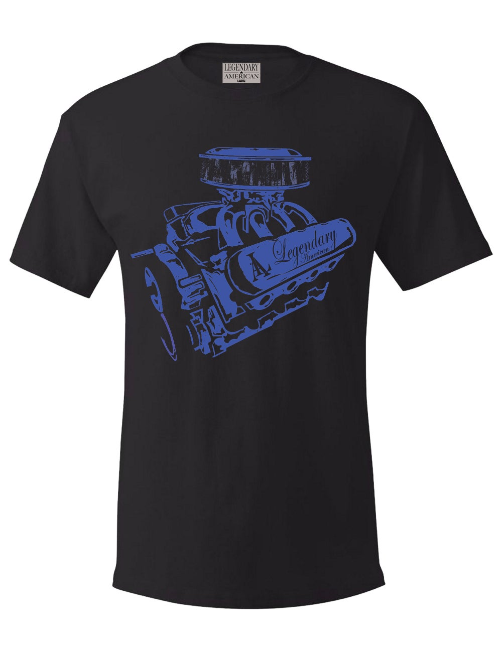 Image of Legendary American Big block tee - blue print