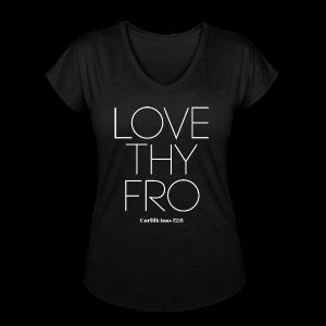 Image of Ladies LOVE THY FRO V-Neck Tshirt