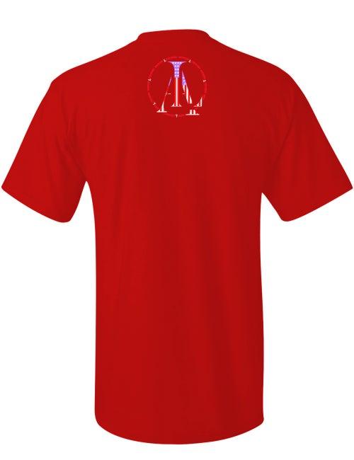 Image of Legendary American Knucklehead tee in red