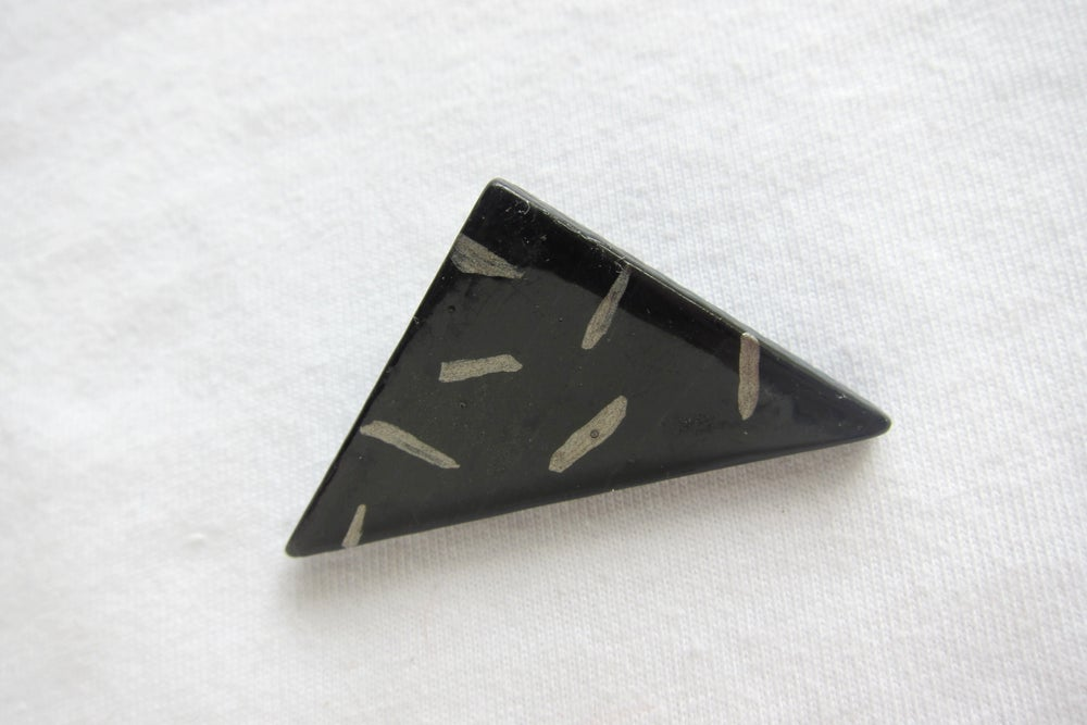 Image of Black triangle brooch