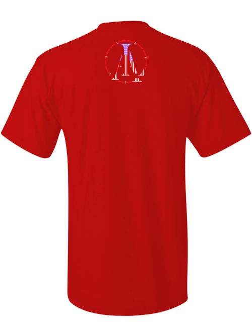 Image of Legendary American LA logo tee in red