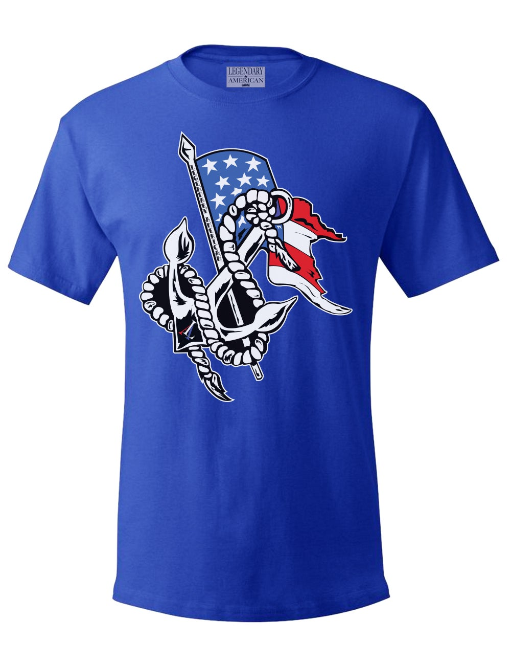 Image of Legendary American Anchor tee in blue