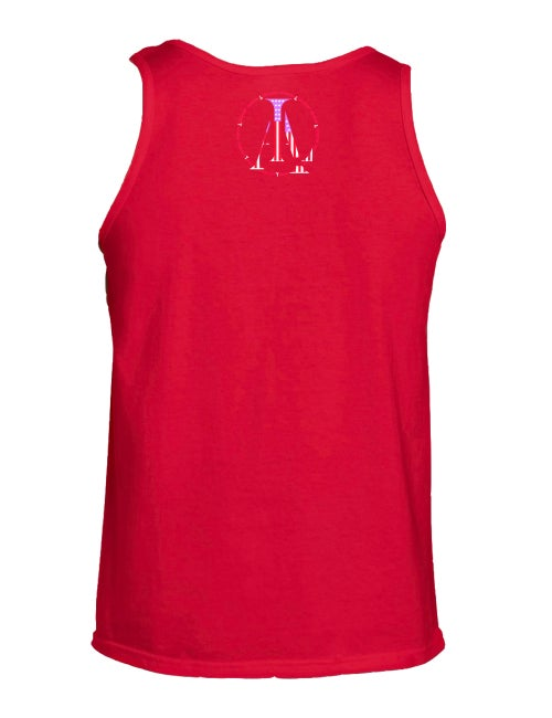 Image of Legendary American LA logo tank top in red