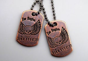 Image of LA Hitmen Mini Dog Tag by Steel Flame