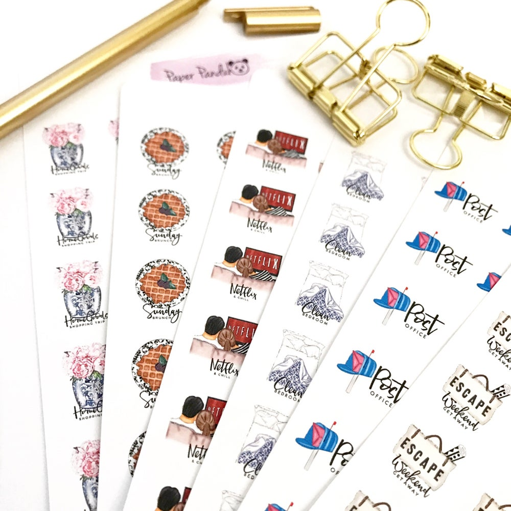 Image of THRIFTY THURS - Set 1 | Chic Mini Icon Planner Stickers