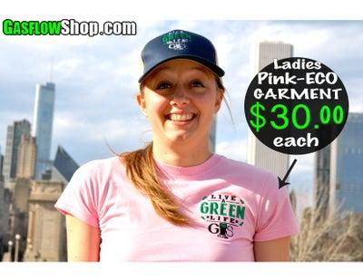 Image of LADIES PINK-ECO GARMENT
