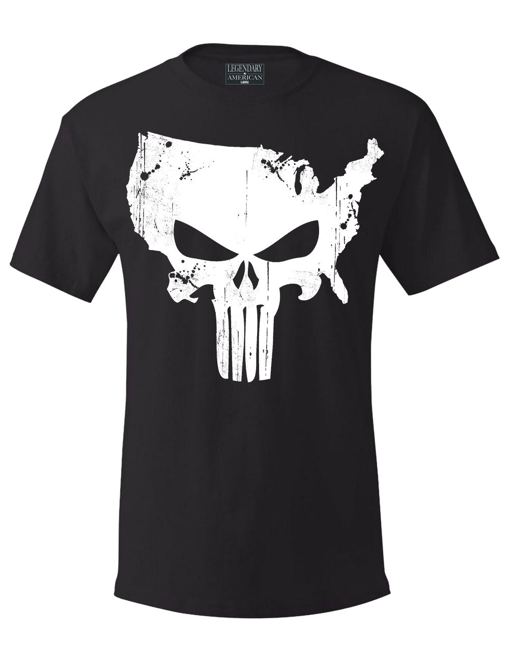 Image of Legendary American American Punisher tee -black