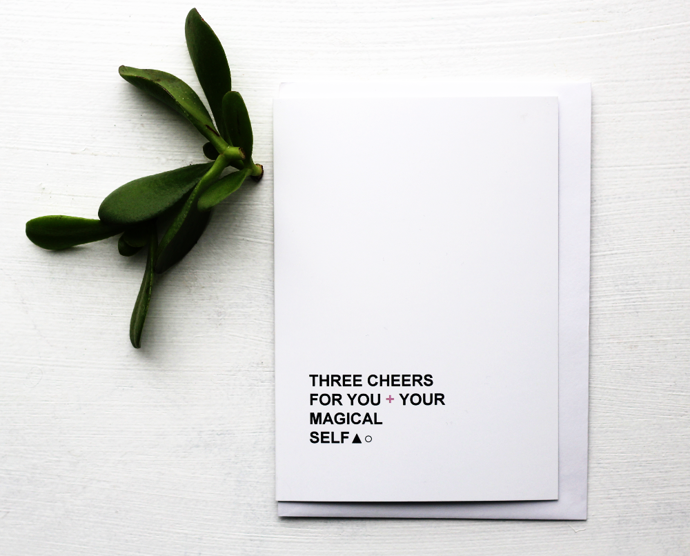 Image of Three Cheers For You - Greeting Card