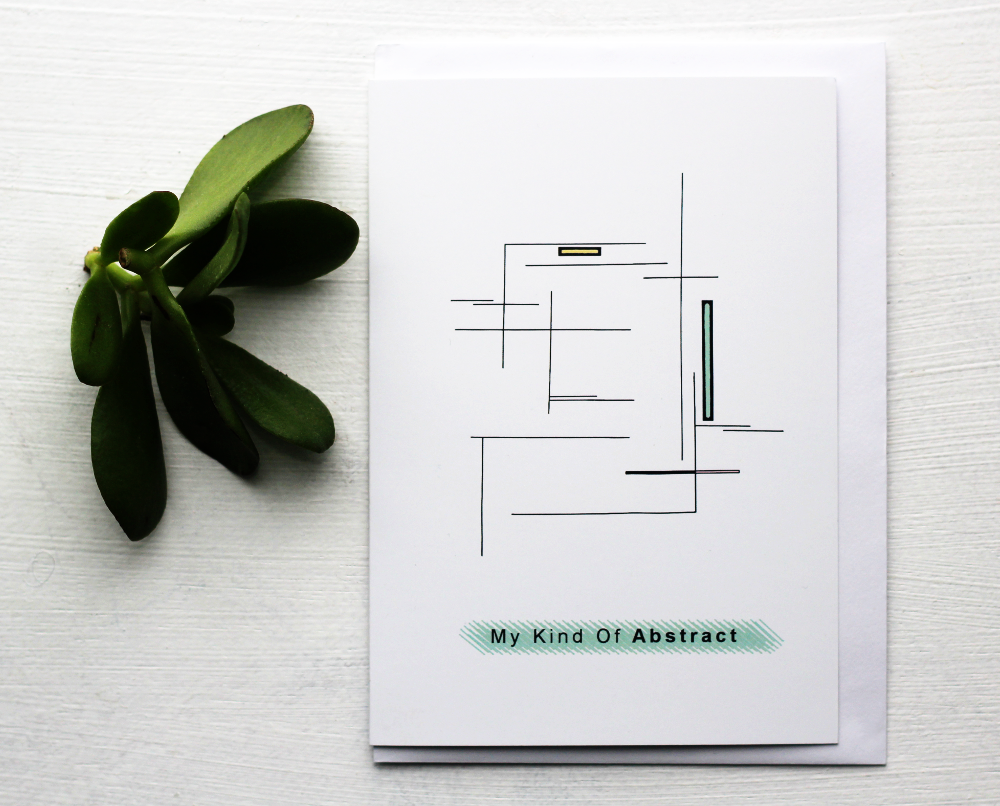 Image of My Kind Of Abstract - Smooth Silk Greeting Card