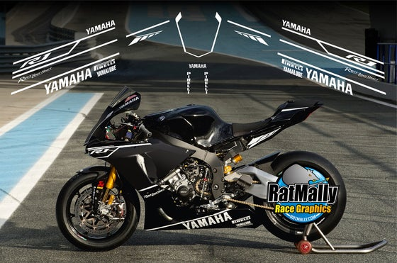 Image of Winter Test graphics. To fit Yamaha R1 or similar