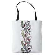 Image of Market Tote, Colorful Vines