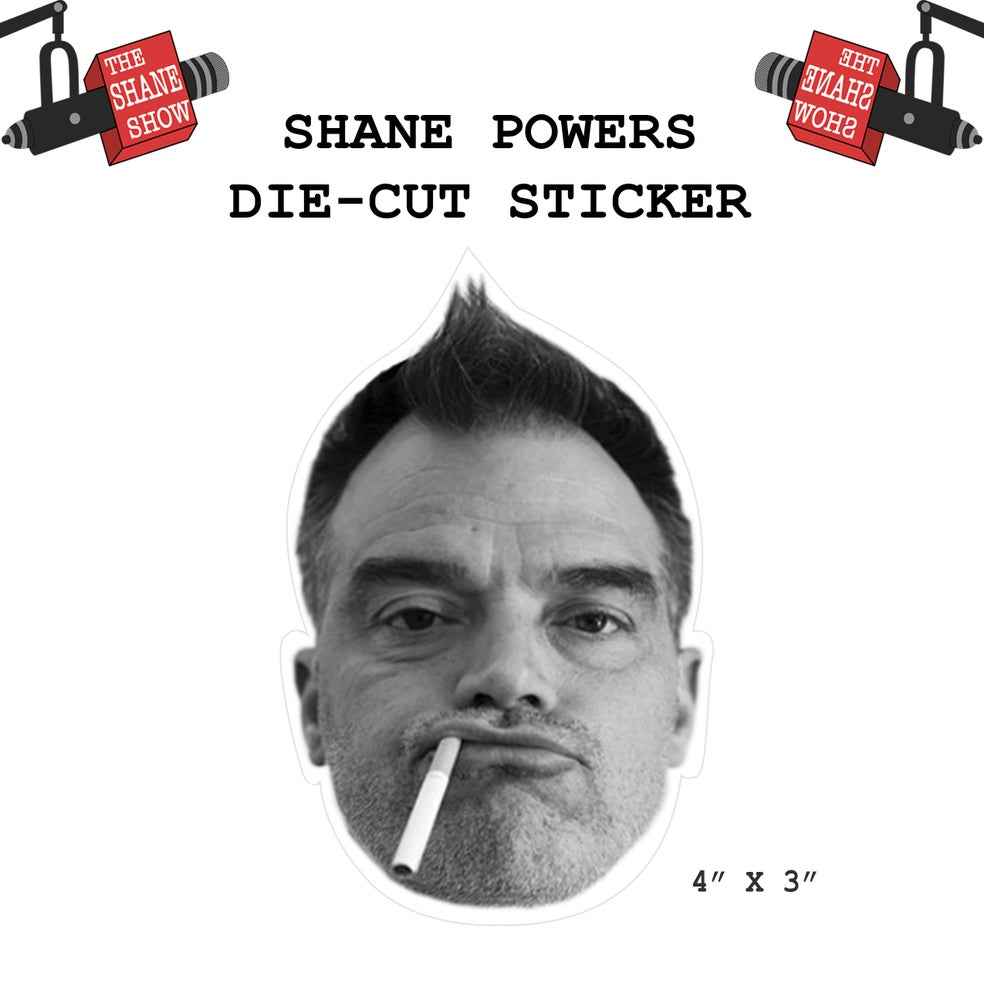 Image of Shane Powers Face Sticker