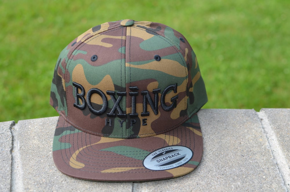Image of Limited Edition camo BoxingHype Logo SnapBacks