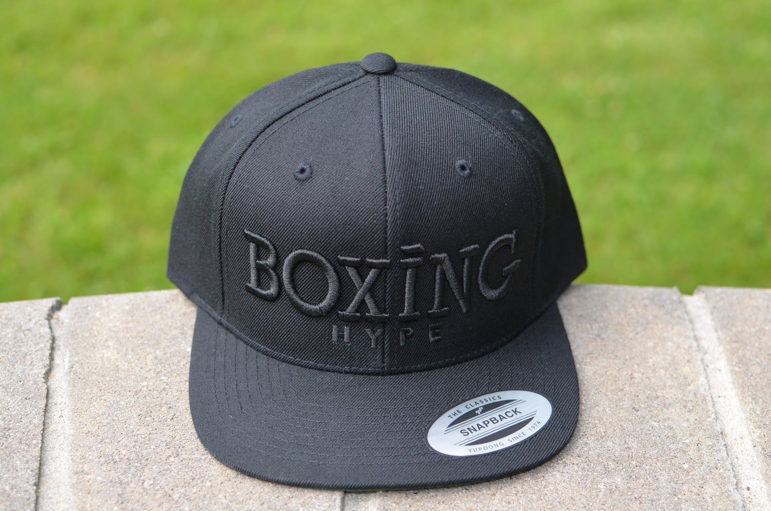 Image of Black on Black BoxingHype Snapbacks