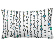Image of Cotton Lumbar Pillow, Strings of Circles 2-sided