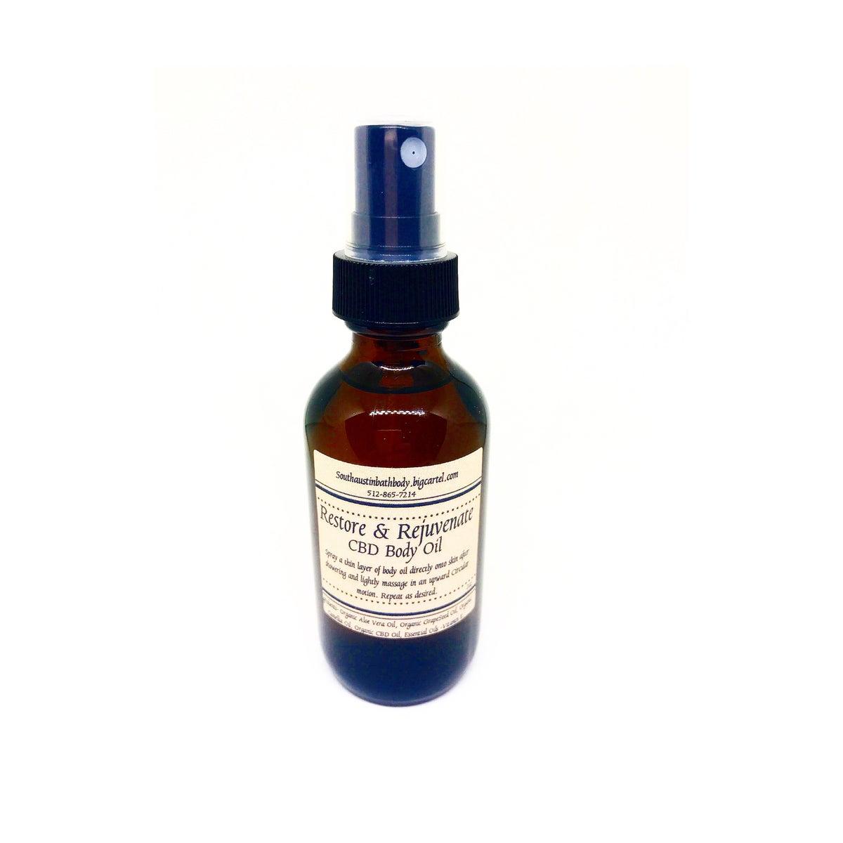 Image of *CBD Restore & Rejuvenate Body Oil.              2oz