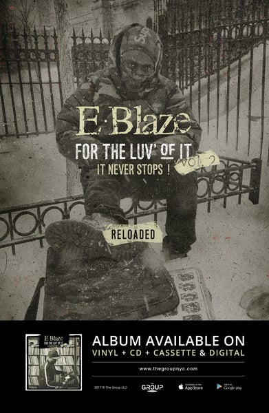 "Image of For the luv of it Vol.2,Reloaded Poster ""Snow"" 11x17 signed by E.Blaze"