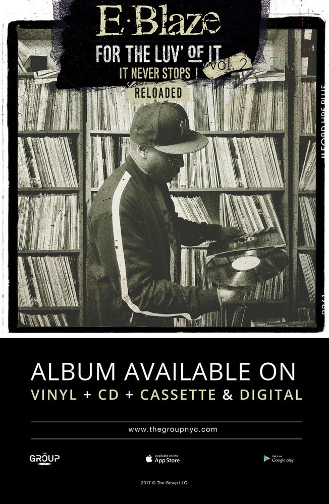 """Image of For the luv of it Vol.2,Reloaded """"Vinyl"""" 11x17 Poster signed by E.Blaze"""