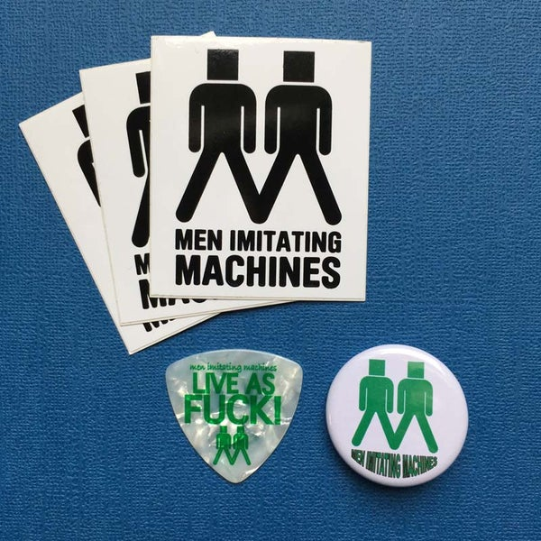 Image of Sticker, Plectrum and Badge (Button) pack